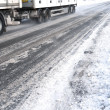 Ice road trucking — Stock Photo