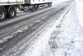 Ice road trucking — Stock Photo