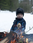 Winter barbecue — Stock Photo