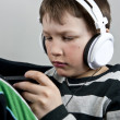 Stock Photo: Boy with earphones