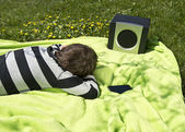 Relaxing to music — Foto de Stock