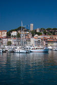 Sailingboats in cannes — Stockfoto