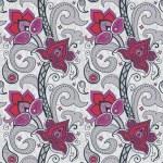 Decorative floral seamless wallpaper — Stock Vector