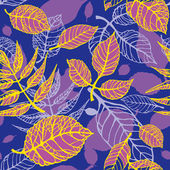 Decorative seamless pattern with leaves — Stock Vector