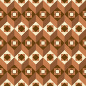 Geometrical pattern in brown — Stock Vector