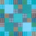 Fabric seamless pattern patchwork style — Stock Photo