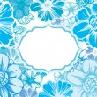 Blue floral card — Vector de stock