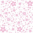 Pink flowers seamless pattern — Stock Vector #13248163