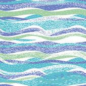 Abstract patroon met golven — Stockvector