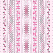 Cross-stitch pattern in pink — Stock Vector