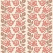 Stock Vector: Decorative roses seamless pattern