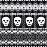 Skulls ornamental pattern — Stock Vector #13387932