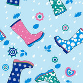 Seamless pattern of gumboots — Stock Vector