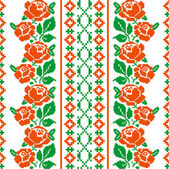 Folk style textile pattern — Vector de stock