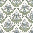 Floral damask pattern - Stockvectorbeeld