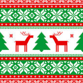 Christmas knitted background — Stock Vector