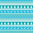 winter pattern with christmas trees and deers — Stock Vector
