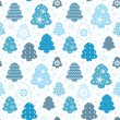 Christmas background tree and snow — Stock Vector