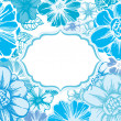 Blue flowers card — Vector de stock