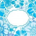 Blue flowers card — Stock Vector