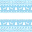 Christmas card fair isle background — Stock Vector