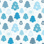 Christmas background tree and snow — Vector de stock