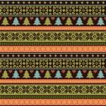 modèle de tricot de Noël — Vecteur