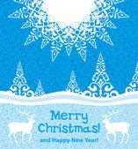Christmas card — Vector de stock