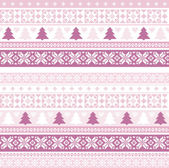 Christmas pattern with traditional motifs — Stock Vector