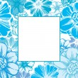 Floral card in blue - Stock Vector