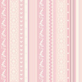 Ornamenral pink striped wallpaper — Stock Vector