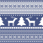 Seamless knitted christmas pattern — Stock Vector