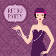 retro party — Stock Vector