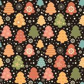 Christas tree seamless pattern — Stock Vector