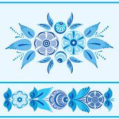 Folk floral ornament — Stock Vector