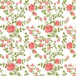 Seamless pattern of blooming roses — Stock Vector