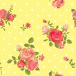 Seamless floral pattern - Stok Vektr