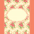 Royalty-Free Stock Vector Image: Invitation floral retro card