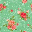 Blooming roses seamless pattern — Stock Vector #21580055