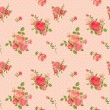 Rose pattern - Stock vektor