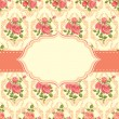 Vintage card with roses - Stock Vector