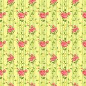Blooming rose vintage wallpaper — Stock Vector