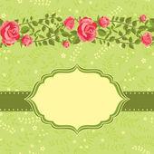 Modèle de carte floral — Vecteur