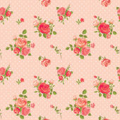 Rose pattern — Stok Vektör