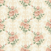 Rose vintage pattern — Stock Vector
