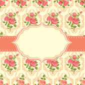 Vintage card with roses — Stock Vector