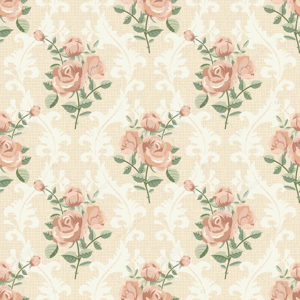 Rose vintage seamless ...