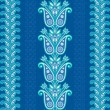 Blue flower pattern - Vettoriali Stock