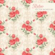 Stock Vector: Rose classic pattern