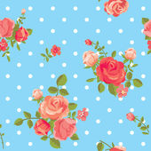 Rose seamless pattern — Stock Vector